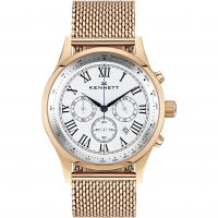 homme Kennett Savro Gold White Milanese Chronograph Watch WSAVRGWHMIL