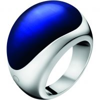 Ladies Calvin Klein Stainless Steel Size P Closed Ring