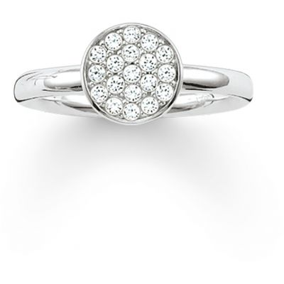 Ladies Thomas Sabo Sterling Silver Size O Glam & Soul Sparkling Circles Ring TR2050-051-14-54