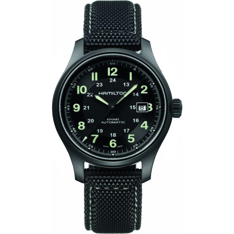 Mens Hamilton Khaki Field Titanium Automatic Watch