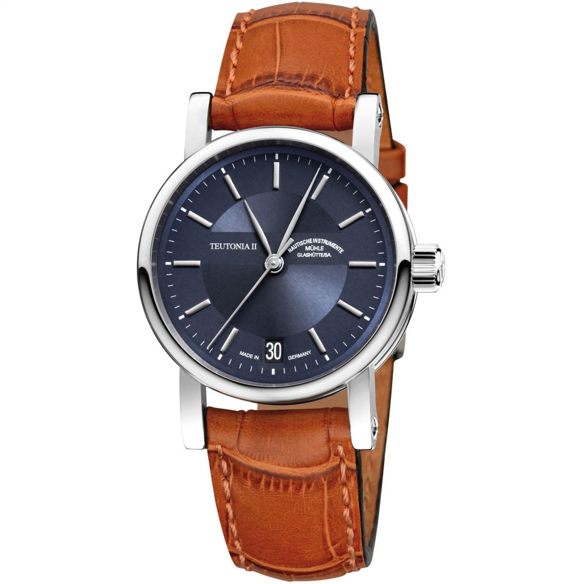 Gents muhle glashutte teutonia ii medium watch m1 30 22 lb for Muhle watches
