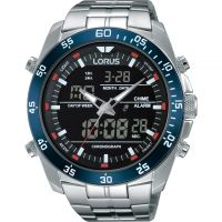 homme Lorus Alarm Chronograph Watch RW623AX9