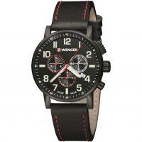 Herren Wenger Attitude Chrono PVD Chronograph Watch 010343104