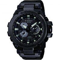 Herren Casio G-Shock Premium MT-G Aged Silber Wecker Chronograf funkgesteuert Uhr