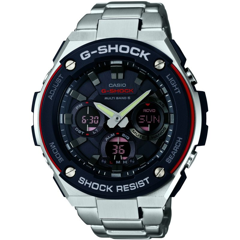 Mens Casio G-Steel Alarm Chronograph Radio Controlled Watch