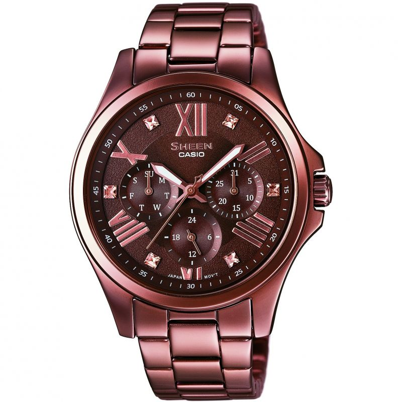 Ladies Casio Sheen Watch SHE-3806BR-5AUDR