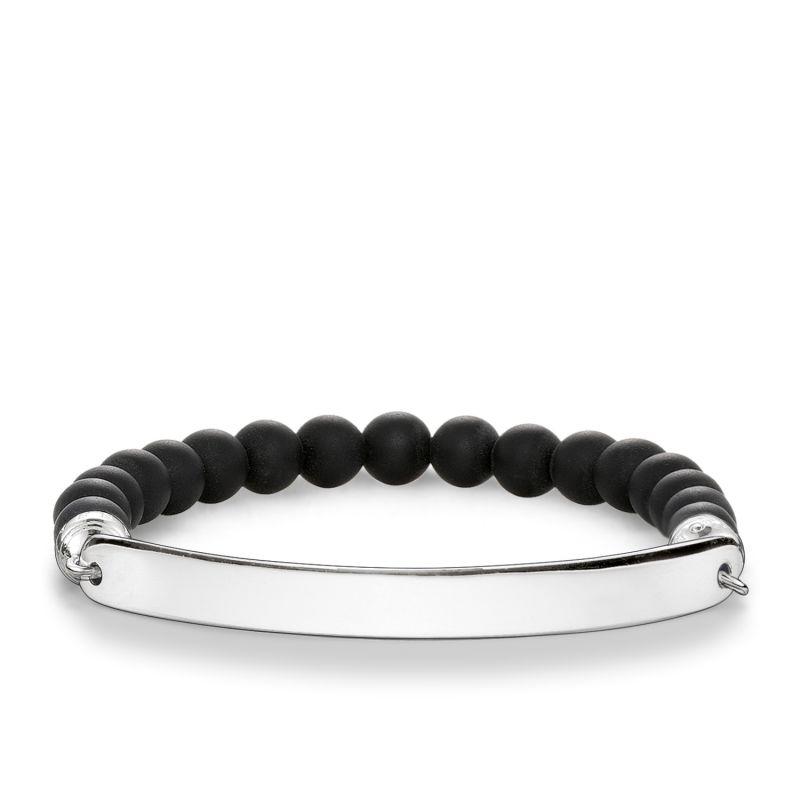 Ladies Thomas Sabo Sterling Silver Love Bridge Bracelet LBA0014-023-11-L18.5