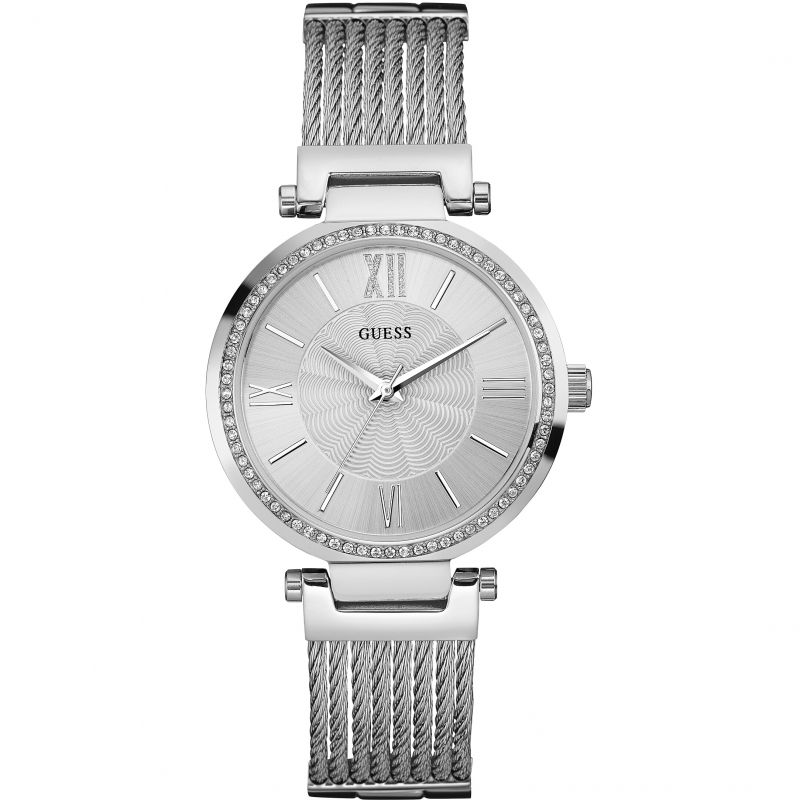 GUESS Ladies silver watch with wire bracelet