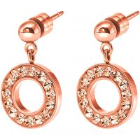 Ladies Folli Follie PVD rose plating Classy Earrings