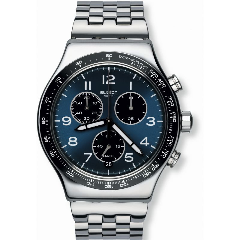 Herren Swatch Boxengasse Chronograph Watch YVS423G