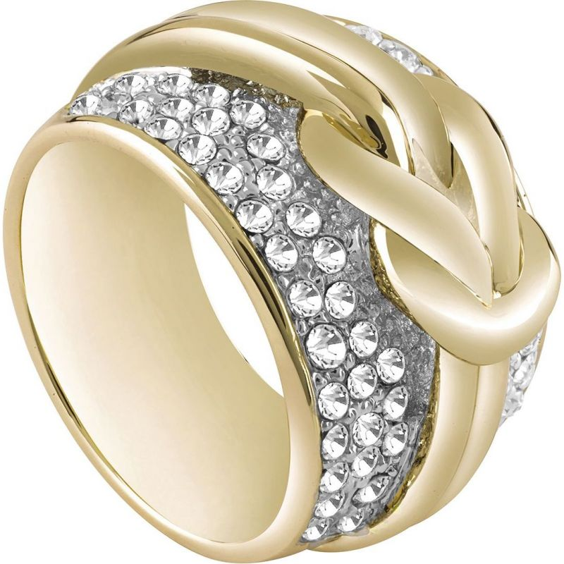 Ladies Guess PVD Gold plated Size P Ring UBR72511-56