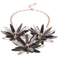 Ladies Ted Baker Rose Gold Plated Floria Flower Starburst Necklace