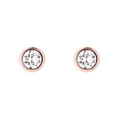 Ladies Ted Baker PVD rose plating Sinaa Crystal Stud Earring TBJ1084-24-02