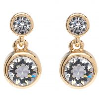 femme Karen Millen Jewellery Crystal Dot Earring Watch KMJ879-22-02