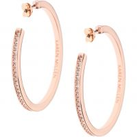 Karen Millen Dam Large Hoop Earrings PVD roséguldspläterad KMJ173-24-02