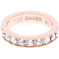 Damen Ted Baker Rose vergoldet Claudie Narrow Kristall Band Ring Kl