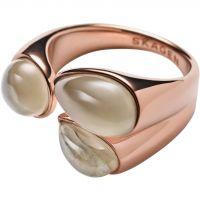 Ladies Skagen PVD rose plating Size M.5 Sea Glass Ring SKJ0746791M.5