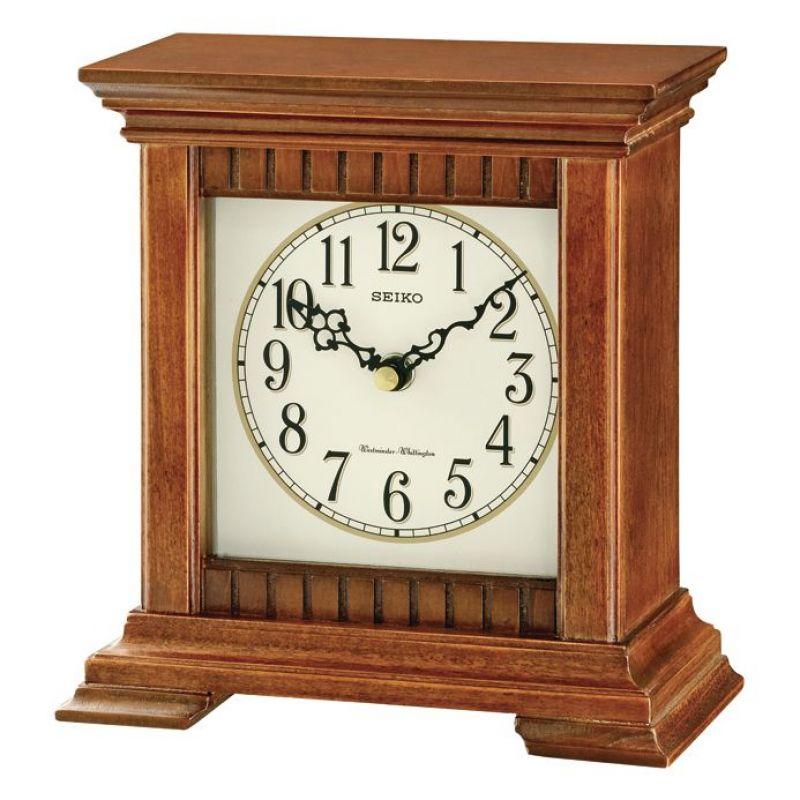 Seiko Clocks Wooden Chiming Mantel Clock