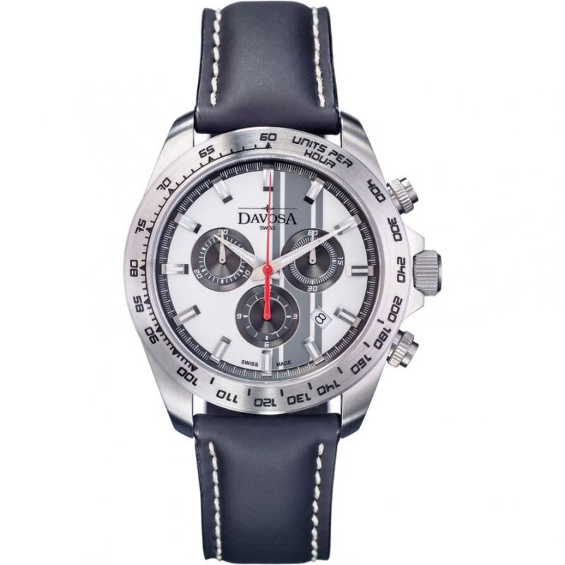Mens Davosa Speedline TX Interchangeable Strap Set Chronograph Watch