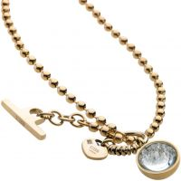 Ladies STORM PVD Gold plated Crysta Ball Necklace