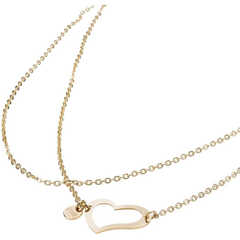 Ladies STORM PVD Gold plated Heart Necklace HEART-NECKLACE-GOLD
