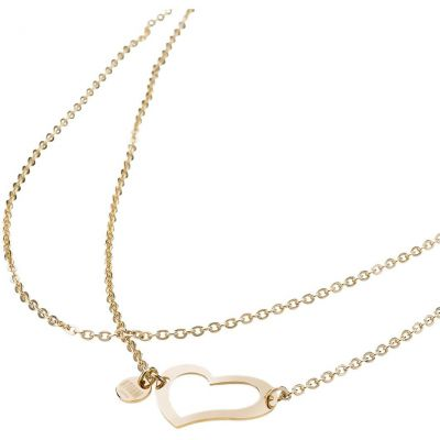 HEART-NECKLACE-GOLD Image 0