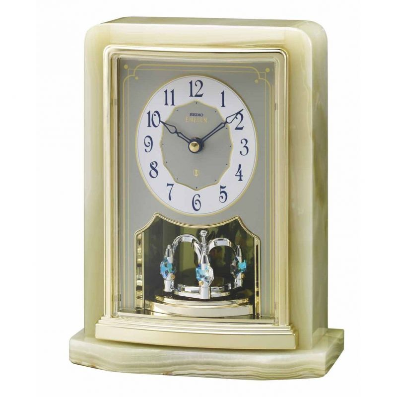 Seiko Clocks Emblem Mantel Clock AHW465G