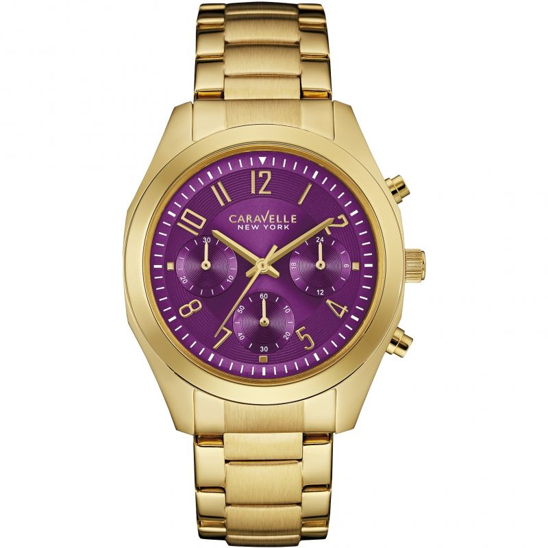 Ladies Caravelle New York Melissa Chronograph Watch 44L200