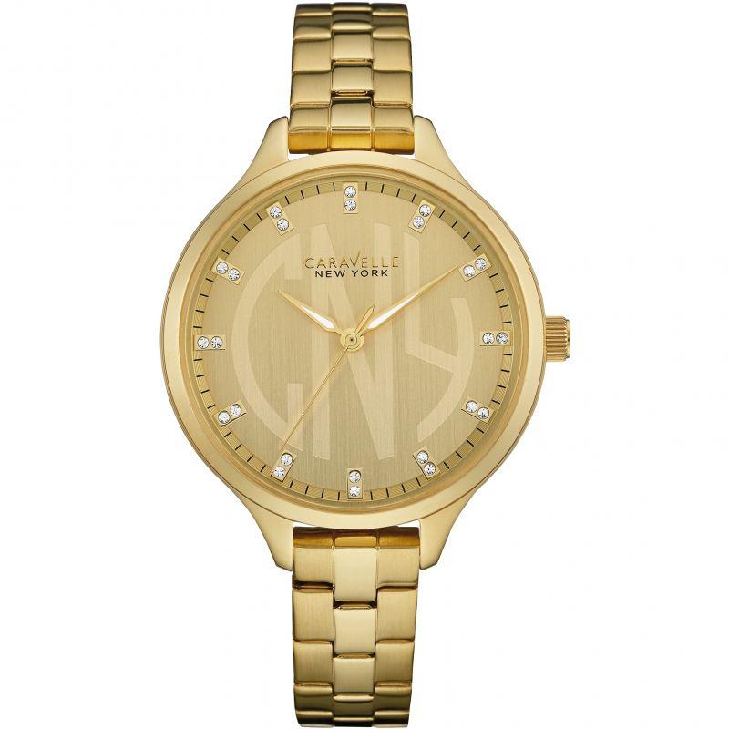 Ladies Caravelle New York Round Slim Watch