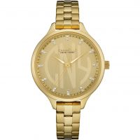 Caravelle New York Round Slim Dameshorloge Goud 44L206