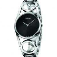Calvin Klein Round Small Bangle Dameshorloge Zilver K5U2S141