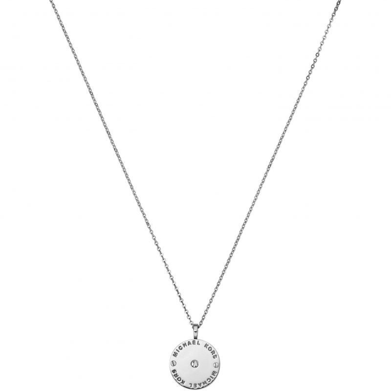 Ladies Michael Kors PVD Silver Plated Necklace MKJ2655040