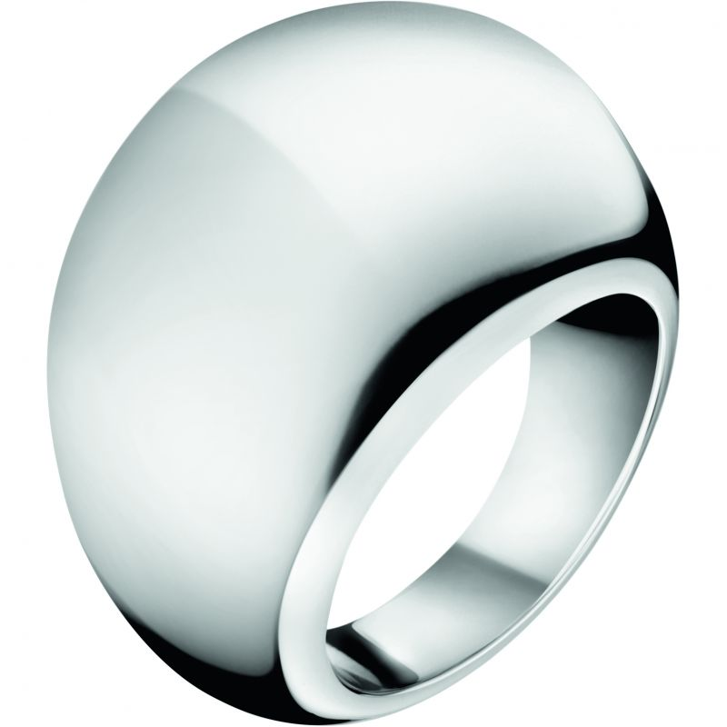 Ladies Calvin Klein Stainless Steel Size P Closed Ring KJ3QMR000108