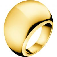 Ladies Calvin Klein PVD Gold plated Size P Closed Ring