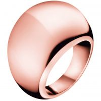 Damen Calvin Klein PVD Rosa plating Größe O Closed Ring