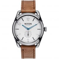 Nixon The C39 Leather Herenhorloge Bruin A459-2067
