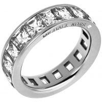 Damen Michael Kors PVD Silber Plated Park Avenue Barrel Ring Größe O