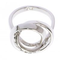 Ladies Karen Millen PVD Silver Plated Ring Small