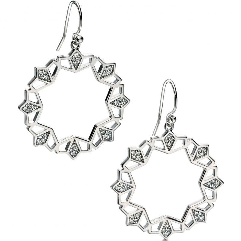 Ladies Fiorelli Sterling Silver Earrings E5075C