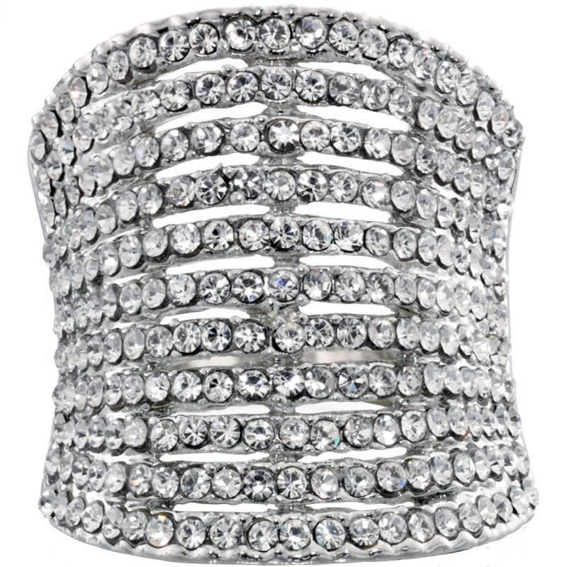 Ladies Fiorelli PVD Silver Plated Ring R3287M