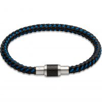 Biżuteria męska Unique & Co Leather Bracelet B241BLUE/19CM