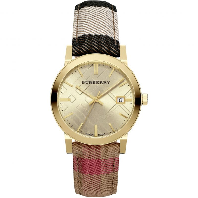 Ladies Burberry The City House Check Watch BU9041
