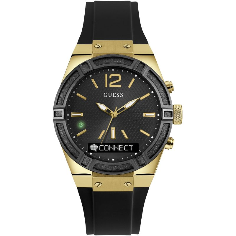 Guess Connect Bluetooth Hybrid Smartwatch Unisexchronograaf Zwart C0002M3