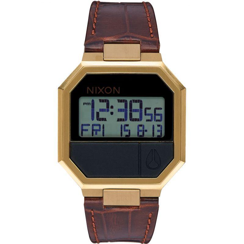 Unisex Nixon The Re-Run Leather Watch