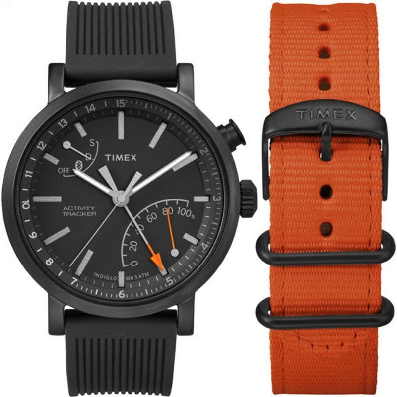 Mens Timex Indiglo Metropolitan+ Activity Tracker Bluetooth Hybrid Smartwatch Watch