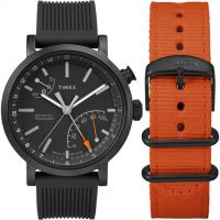 Herren Timex Indiglo Metropolitan+ Activity Tracker Bluetooth Hybrid Smartwatch Watch TWG012600