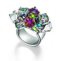 femme Swatch Bijoux Love Explosion Crystal Cubes Watch JRD022-6