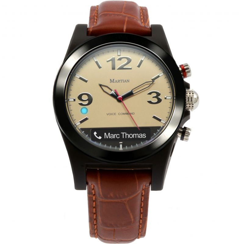 Mens Martian Aviator B10 Bluetooth Hybrid Smartwatch Watch