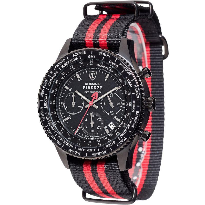 Mens Detomaso Firenze Stripes Chronograph Watch