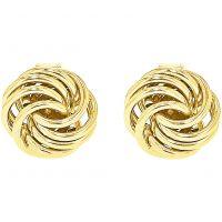 Damen Essentials 9ct Gold mini Rose Stud Ohrringe